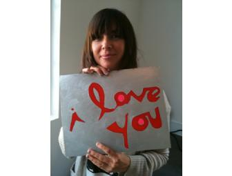 Chan Marshall of Cat Power 'I Love You' Painting