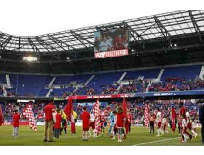 4 tickets to a NY Red Bulls Soccer Match and an Auto Jersey