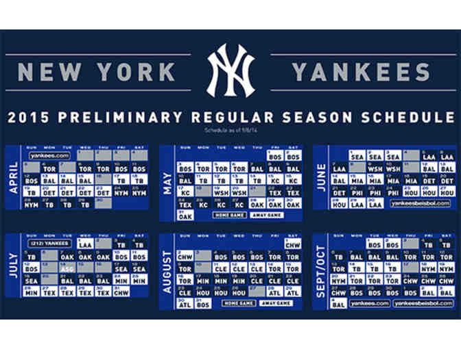 2018 MLB Tickets - New York Yankees - Photo 1