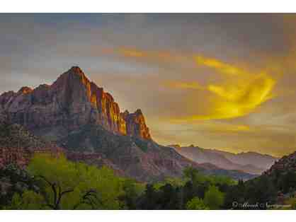 Watchman @ Zion National Park - Metal print photo by Murali Narayanan