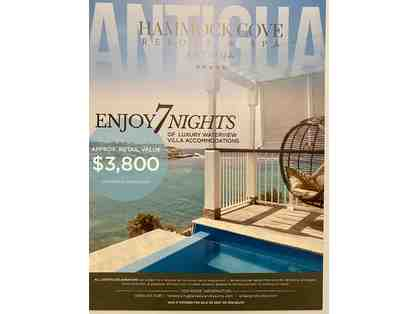 Enjoy 7 nights of romantic waterfront resort accommodations in Antigua!