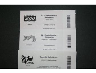 Columbus Zoo and Aquarium Package includes The Wilds and Zoombezi Bay!!