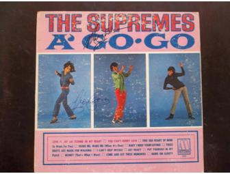 "Diana Ross and Mary Wilson The Supremes Signed Album Record "" A Go Go "" - Photo 1"