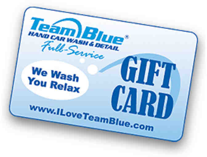 $50 Gift Card for Team Blue Hand Carwash & Detail