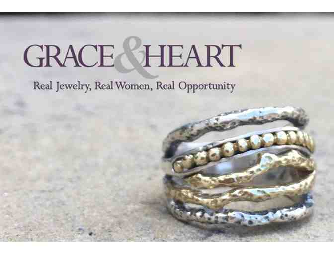 Grace and Heart Bangle with Pendant and Gift Card