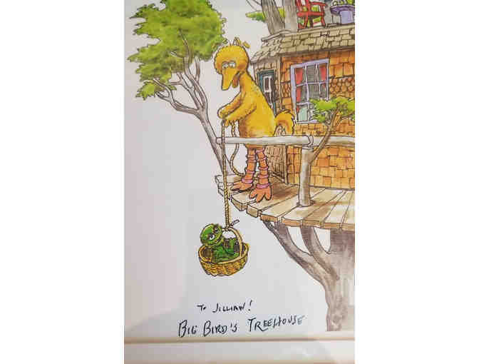 Autographed Caroll Spinney Print 'Big Bird's Tree House'