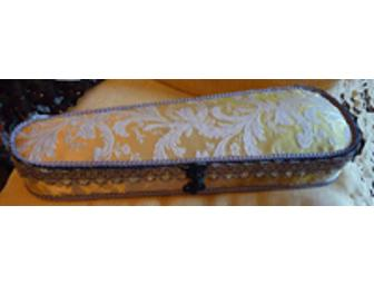 Hand-decorated violin and violin case object d'art