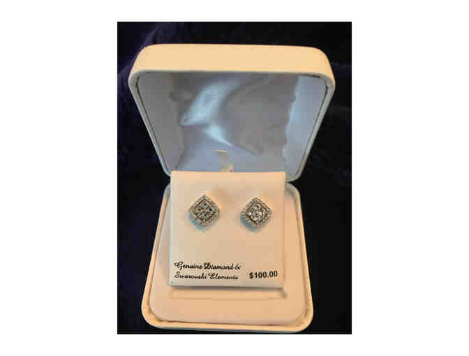 Diamond Element Stud Earrings