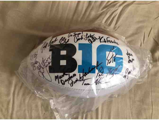 Big 10 Football Coaches autographed football - Photo 1