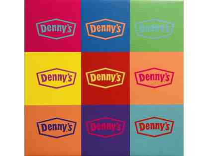 One-of-a-Kind Denny's Pop Art Logos on Canvas