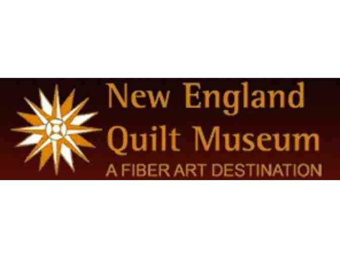 New England Quilt Museum - Pass for Two and Stuffed Dinosaur