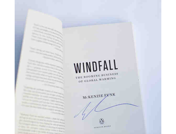 956.  Signed paperback copy of 'Windfall' by McKenzie Funk
