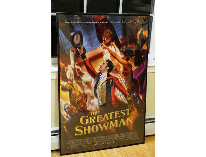 Framed movie poster of 'The Greatest Showman'