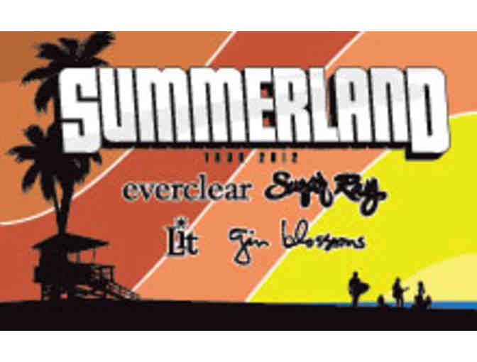 Guitar autographed by the Summerland Tour bands: Gin Blossoms, Everclear, Sugar Ray & Lit