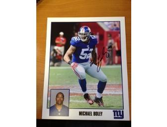 New York Giants Michael Boley Autographed Picture