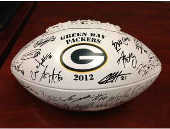 Laser Signed Green Bay Packers Football