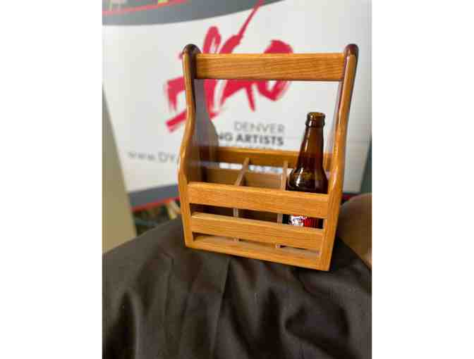 Handcrafted Wood Beer/Condiment Caddy