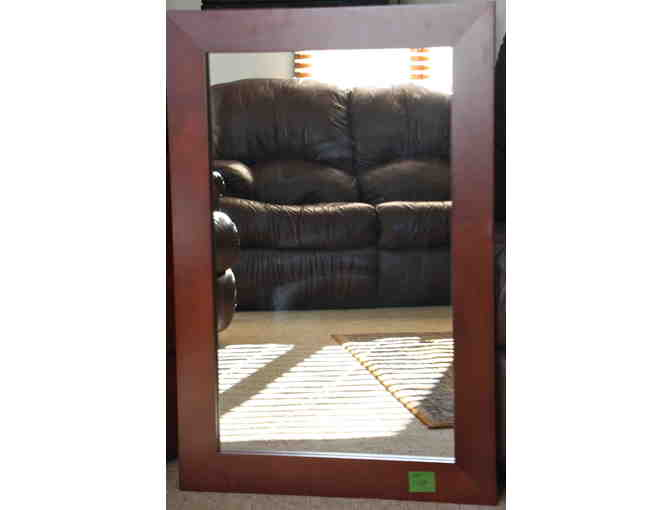 Cherry stained wood frame  Mirror (24 x 36 in.)