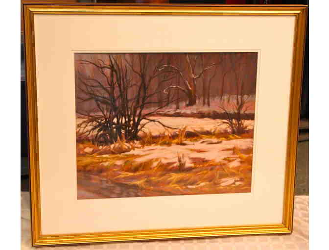 'Winter Mist at Sheep Pasture' Pastel Painting by Allison Krajcik