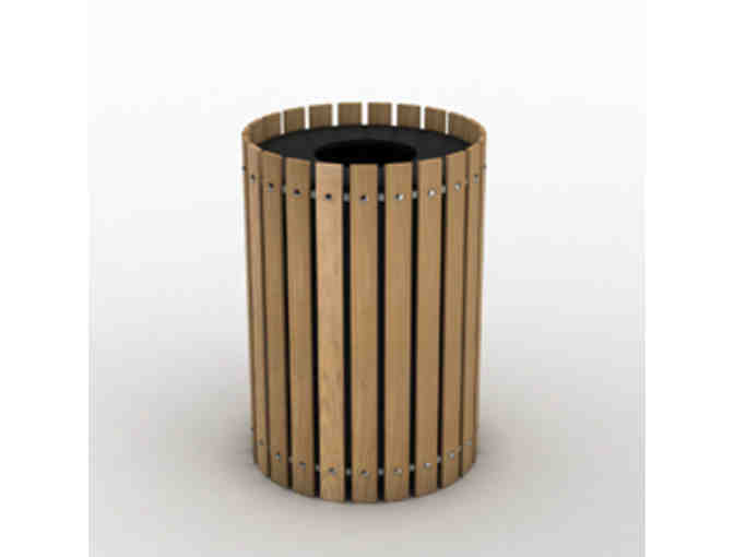 Garapa Hardwood 20-Gallon Round Waste Enclosures