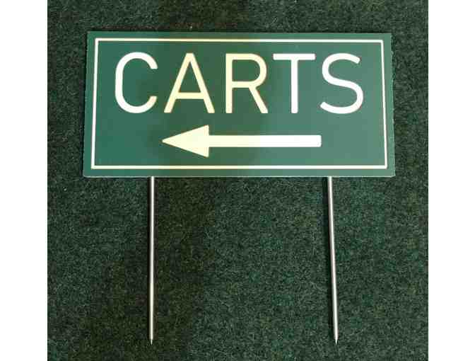 18 HDPE/Routed Plastic Cart Directional Signs