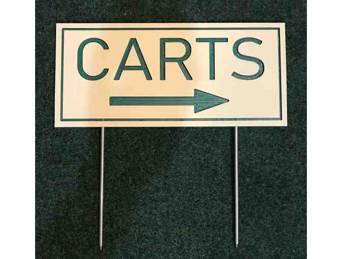 26 HDPE/Routed Plastic Cart Directional Signs