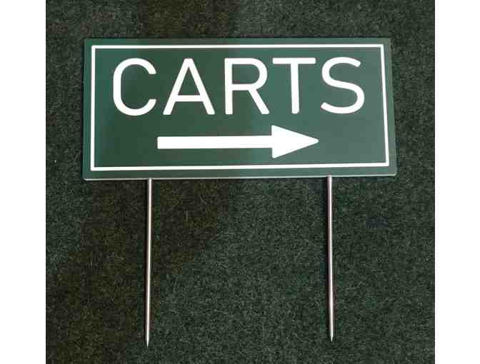 19 HDPE/Routed Plastic Cart Directional Signs