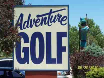 Adventure miniature golf- two rounds.