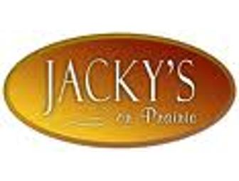 $75 Gift Certificate to Jacky's On Prairie