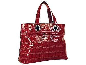 Mad by Design Red Grommet Tote Bag