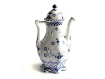 Royal Copenhagen - Blue Fluted Full Lace Coffee Pot