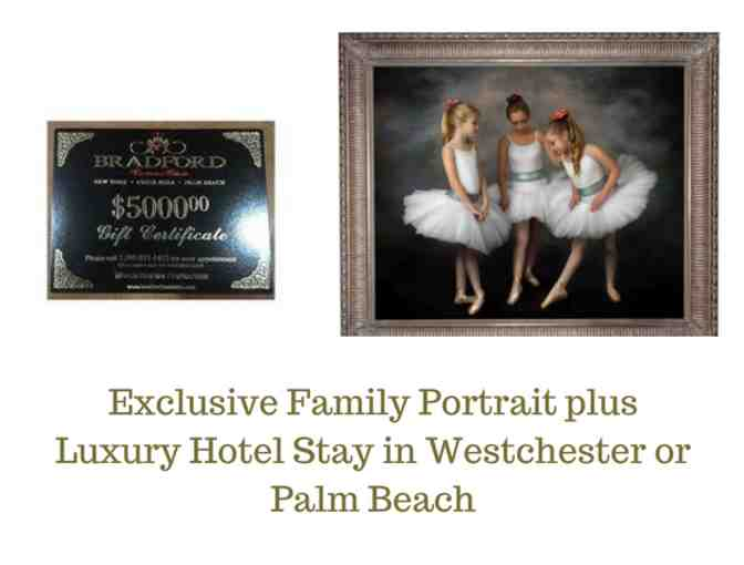 Exclusive Family Portrait plus Luxury Hotel Stay in New York or Palm Beach
