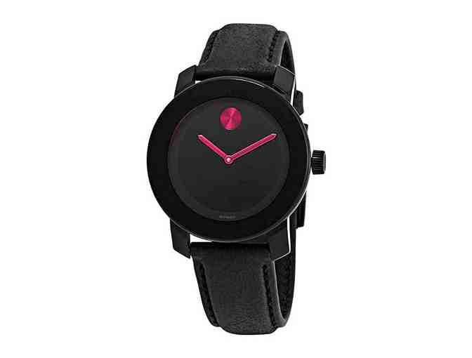 Movado Bold Black Pink Dial Ladies Women's Watch