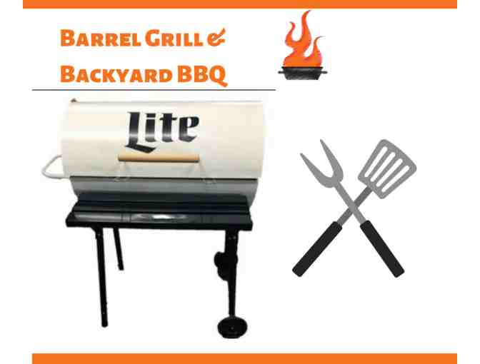 Barrel Drum Grill & Backyard BBQ Package