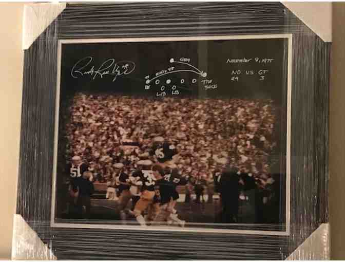 Rudy Ruettiger Autographed Signed 16x20 Framed Photo