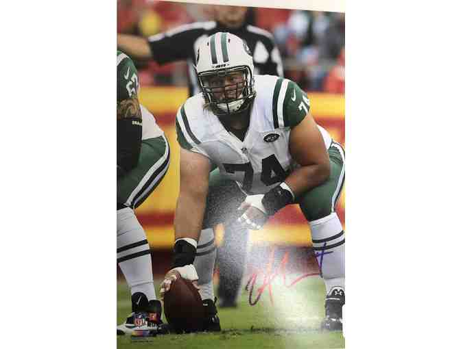 Signed Nick Mangold Photo - New York Jets