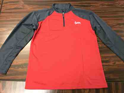 Nebraska Qtr Zip Active Wear Shirt Size Large