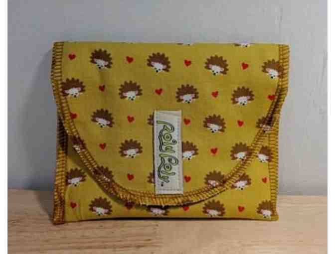 Eco-friendly & Fun Food Bags, 2 Reusable Bags in fabric samples shown!