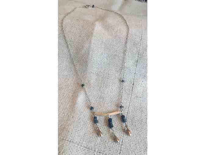 Stunning Sterling Silver!  Handmade Necklace in Sterling and Blue Kyanite