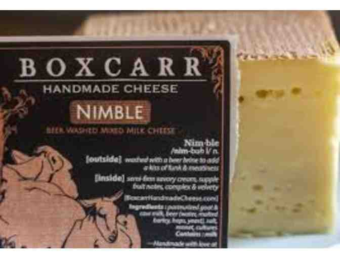 OMG!  Boxcarr Handmade Cheese!  $20 Gift Certificate #1-use at Durham Farmers' Market!