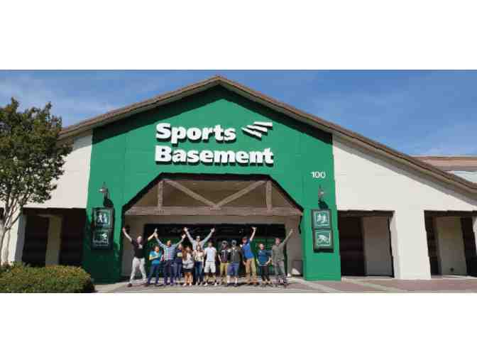 $25 to Sports Basement (Any Location)