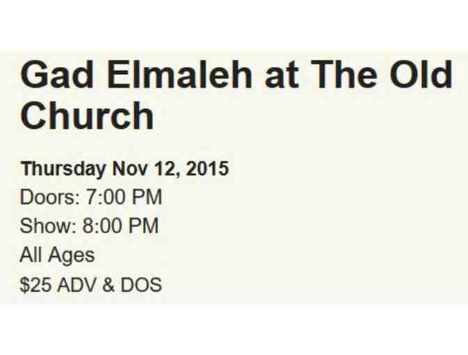 One Ticket to Gad Elmaleh Comedy Show in Portland (Biddable through Nov. 10)