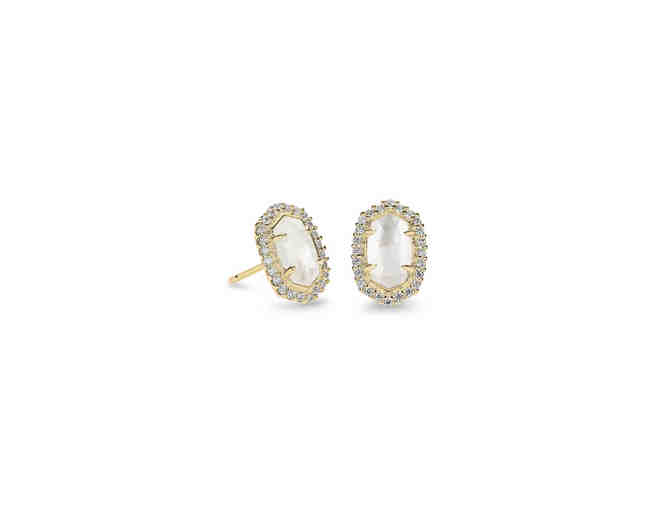 Cade Gold Stud Earrings In Ivory Pearl by Kendra Scott - Photo 1