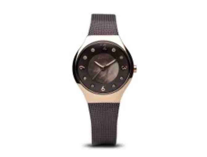 Bering Ladies Polished Rose Gold Colored Stainless Steel Solar Watch - Photo 3