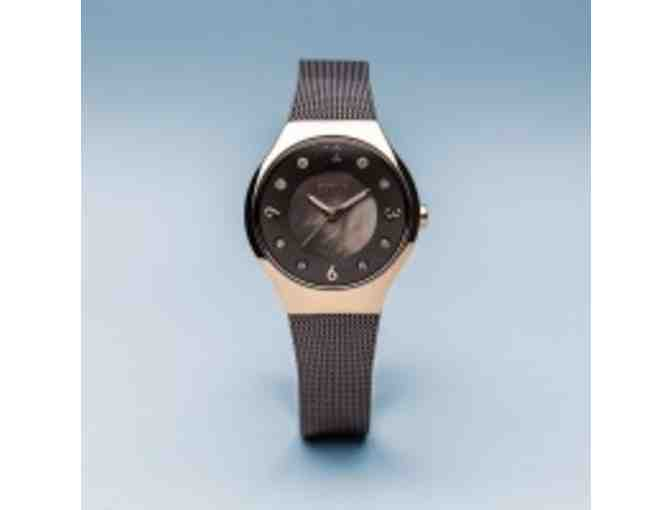 Bering Ladies Polished Rose Gold Colored Stainless Steel Solar Watch - Photo 5