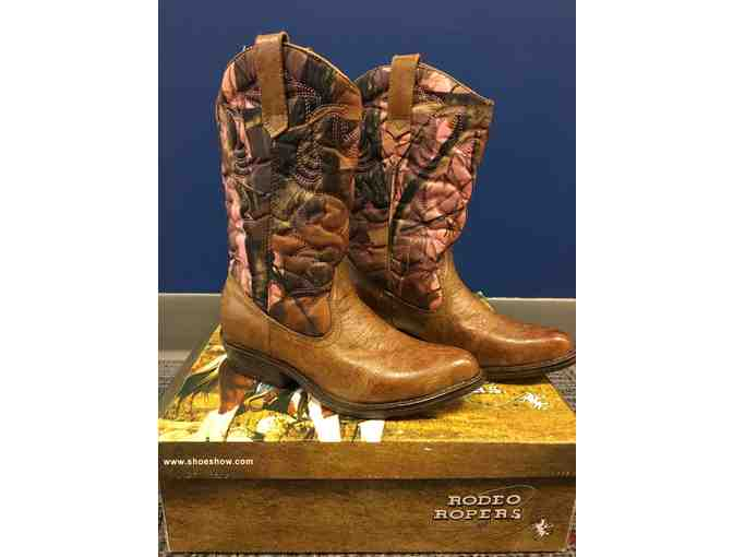 Girls 'Rodeo Ropers' Size 8 Boots