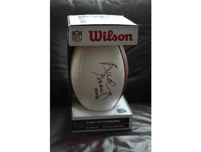 Football Autographed by NFL Hall of Famer Bud Grant