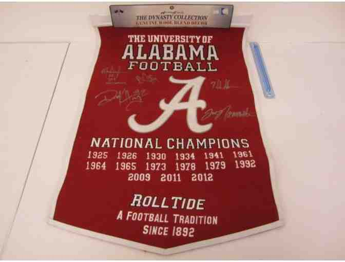 University of Alabama Crimson Tide Autographed Pennant