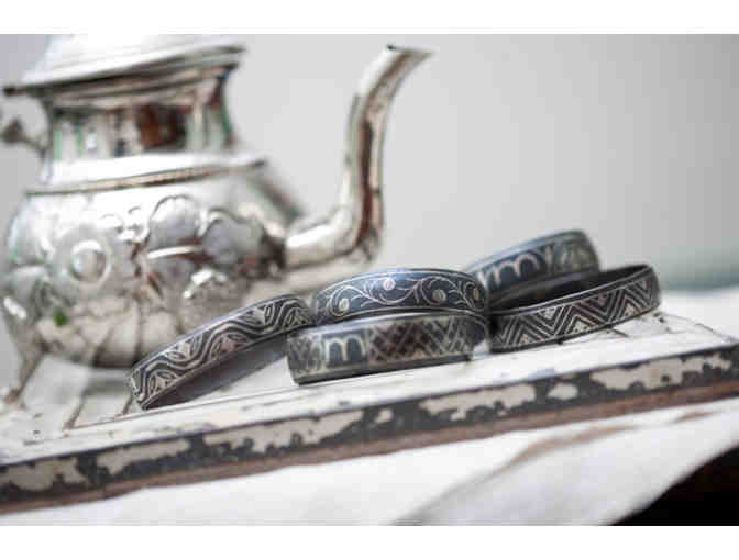 'Dots and Swirls' Damascus Bangle Bracelet, Donated by Marilyn's