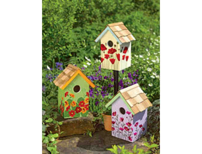 Floral Birdhouse Set